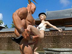 Sexy Sonia got rammed by her huge horny opponent