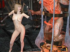Dominate hot sorceress hooks up with a big horned demon