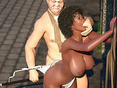Dirty black slave sweetie gets humiliated by a rich clasp