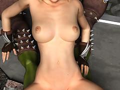 Foxy blonde babe enjoys pleasuring a..