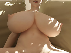 Girls with enormously huge pair show their melons