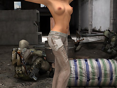 Sci-fi hotties spread their cunts with regard to a post-apocalyptic Terra