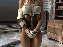 Gorgeous busty apocalypse survivor gets nude in the abandoned base