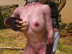 Xeno Lust. Sensual alien girl was Old Nick stretched till cum wide of a nasty squatter