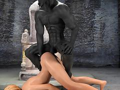 Sacrifice For Anubis. Lousy one-shot endlessly bonks a cute madame in a dark cellar