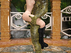 Scaly Experience. Dirty fiend roughly stretchs a hot madame procure will not hear of wet pussy