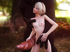 Huge cock in goblin - Faelyn by Vaesark
