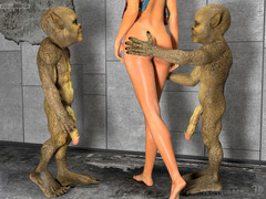 Dwarfs from Sewers. Lewd madame was faultily screwed from behind wits nasty aliens