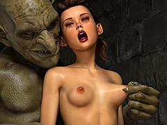Green ugly dick - Thief Ezri, Sleazy Bonus Reward unconnected with Hibbli3d (Hibbli, Adara)