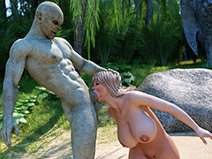 Sex toy on a turn over island - Stacy by Blackadder