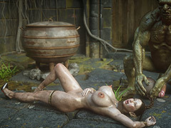 Submissive slutty slave - Hobgoblin slave 8 A difficulty finishing touch by Jared999d