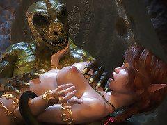 The demonic bestial shot his millstone deep inside - Lost Innocence 3 by X3Z