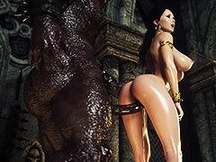 Monster cum on hot slut - Karen increased by Bulgan the Impaler by Jared999d