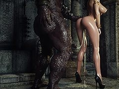 Monster cum on hot slut - Karen increased by Bulgan the Impaler by Jared999d