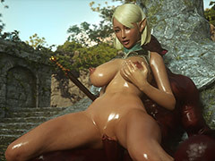 Giant monster cums on hot babe - Jenna's revenge by Jared999d