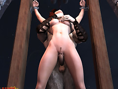 Horny monster got to plunge his cock into her delicious pussy