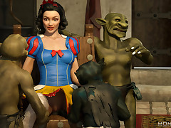 Snow White turned out of doors to be hot babe when goblins nailed their way
